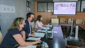 El consejero de Agricultura, Agua y Desarrollo Rural y presidente de la Fundación Tierra de Viñedos, Francisco Martínez Arroyo, preside, por videoconferencia la reunión del Patronato de la Fundación