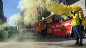 Protesta de los trabajadores de Geacam el pasado mes de mayo. Imagen de archivo