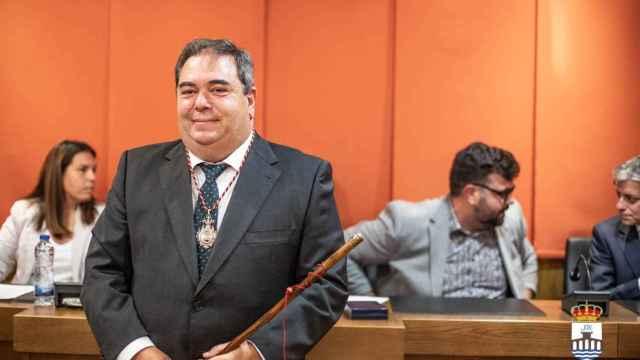 El alcalde de Verín, el socialista Gerardo Seoane, durante su toma de posesión.