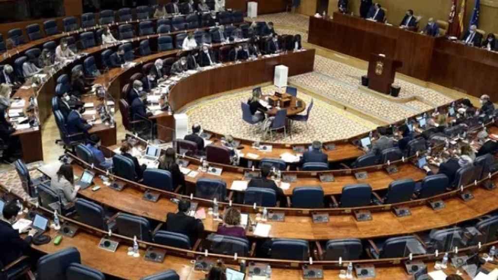 Fotografía de la Asamblea de Madrid. EP