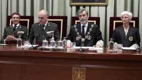 El presidente del CGPJ, Carlos Lesmes, durante la apertura del curso juudicial militar de 2019./