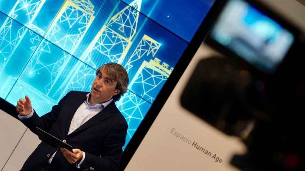 Fernando Aguilar, director de Operaciones de Experis, durante la presentación del informe Tech Cities 2021.
