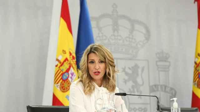 Yolanda Díaz, vicepresidenta tercera de Trabajo y Economía Social, tras el Consejo de Ministros.