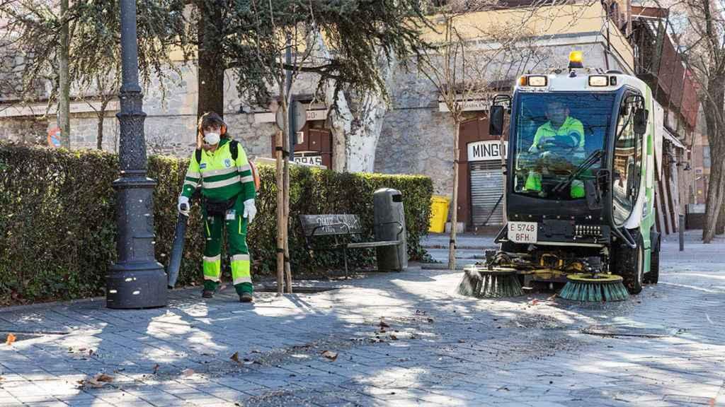 Trabajadores de Valoriza en las calles de Madrid.