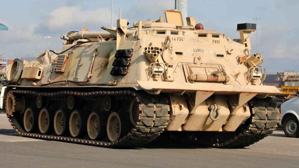 Uno de los 200 vehículos desplegados por la Guardia Nacional del Ejército de Georgia en Marruecos en el African Lion.