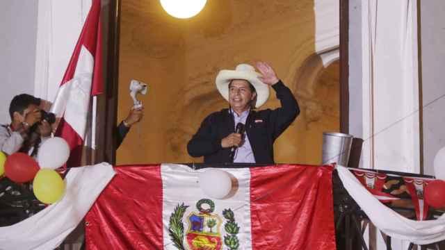 Pedro Castillo, en la noche electoral.
