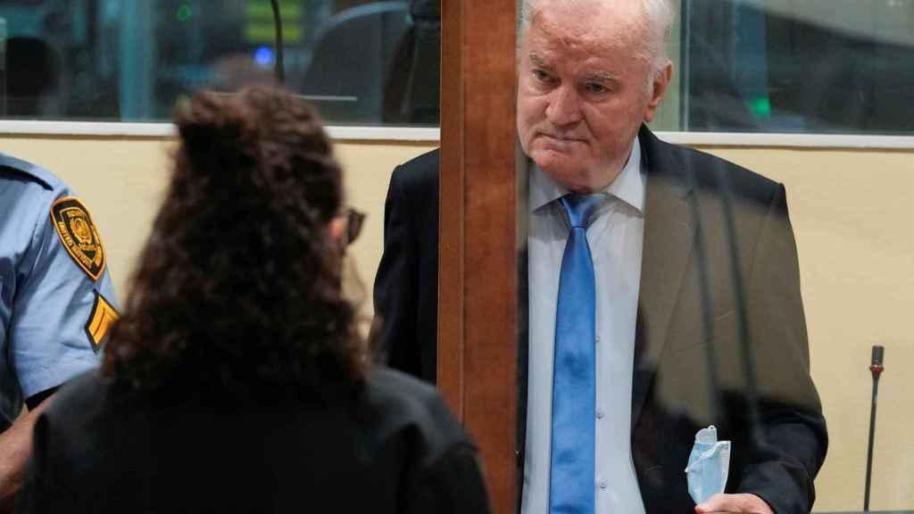 Ratko Mladic, en el Tribunal Penal Internacional de La Haya.
