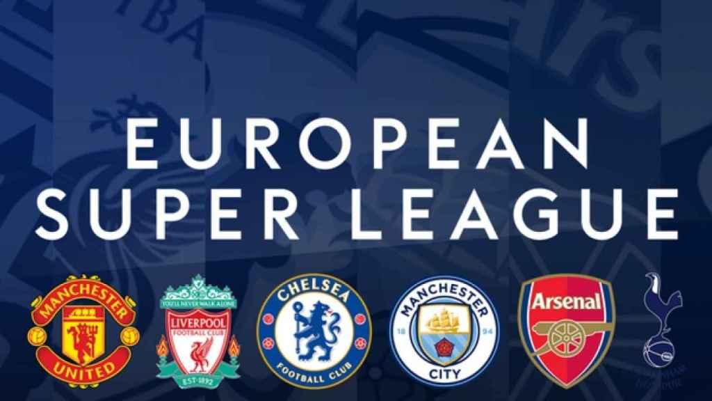 Los clubes ingleses que se adhirieron a la Superliga Europea en un primer momento