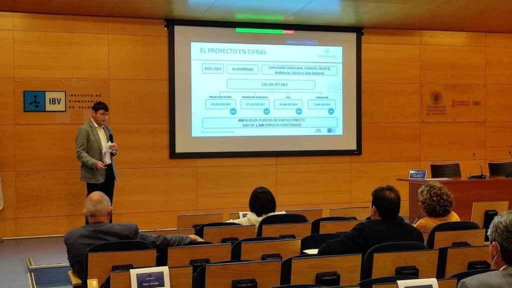 Javier Sánchez, director gerente de IBV, durante la presentación del proyecto.