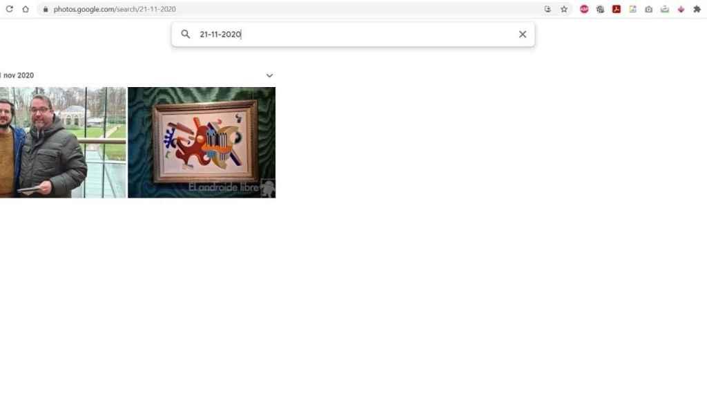 Google fotos buscar fechas