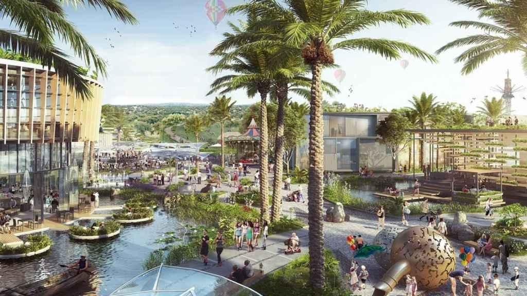 Figuración del centro comercial y de ocio Intu Mediterrani. EE