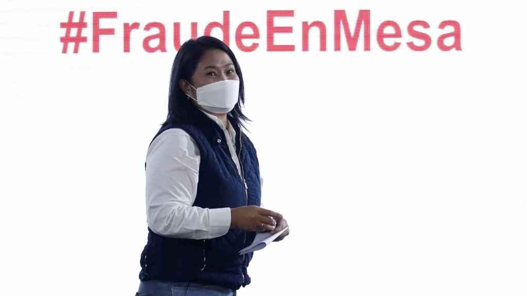 La candidata presidencial en Perú, Keiko Fujimori
