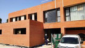 Las obras de ampliación del centro de Salud de San Juan en imagen de archivo.