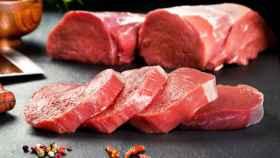 Rodajas de carne de cerdo.