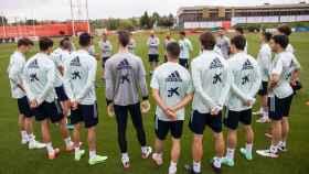 La Selección, durante un entrenamiento