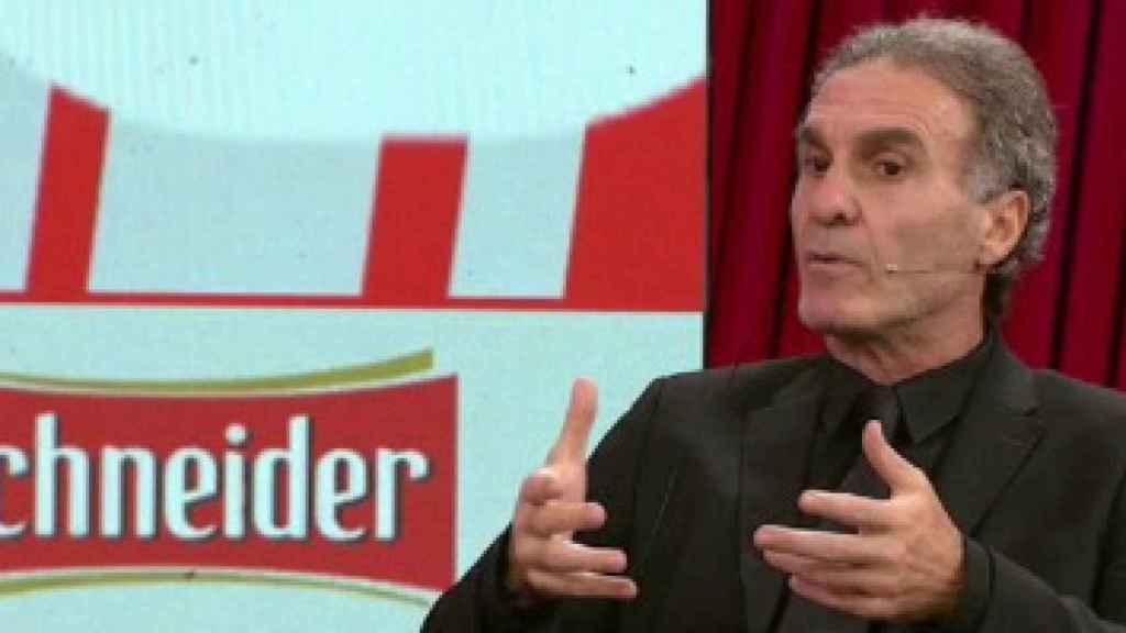 Oscar Ruggeri durante un programa de ESPN