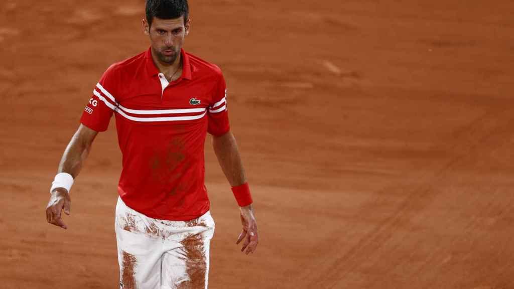 Djokovic durante un partido de Roland Garros