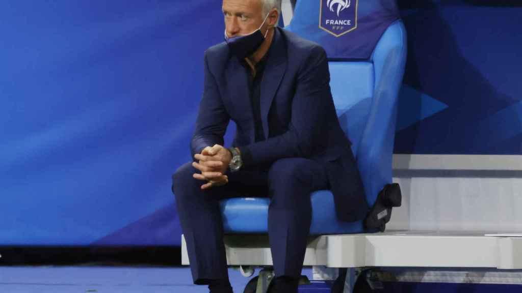 Didier Deschamps, en el banquillo de la selección de Francia