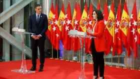 El presidente del Gobierno, Pedro Sánchez, y la presidenta de Madrid, Isabel Díaz Ayuso en una foto de archivo en septiembre de 2020.