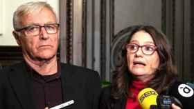 Joan Ribó, alcalde de Valencia, y Mónica Oltra, vicepresidenta del Gobierno valenciano. EFE/Biel Aliño