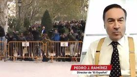 El director de EL ESPAÑOL, Pedro J. Ramírez, este miércoles en 'Las cosas claras' de TVE.