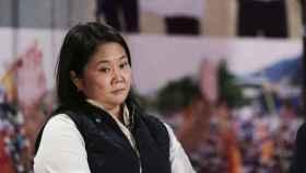 La candidata de Fuerza Popular, Keiko Fujimori, en una rueda de prensa el pasado 7 de junio.