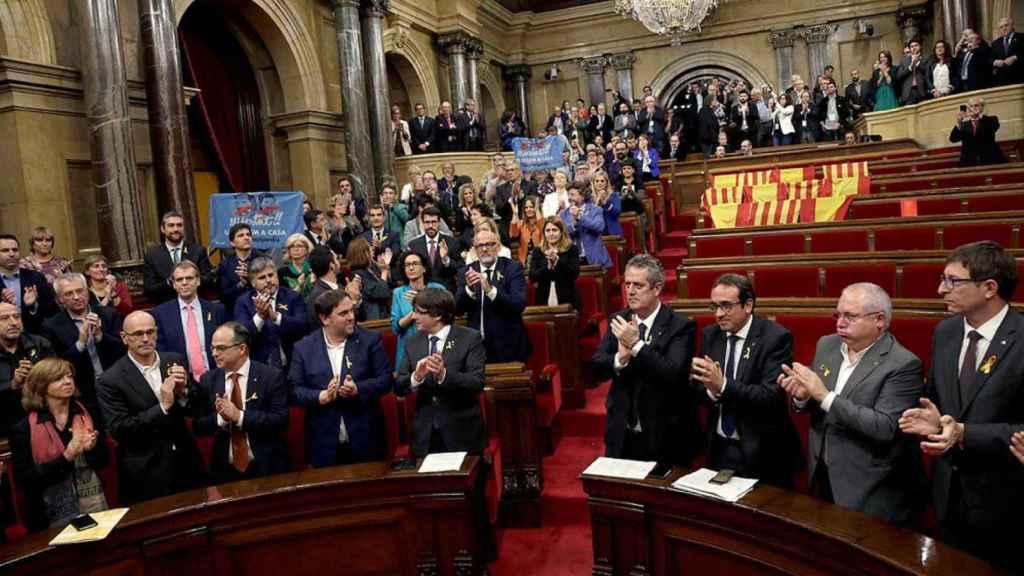 El Parlamento autonómico catalán, el 27 de octubre de 2017, día de la declaración de independencia.