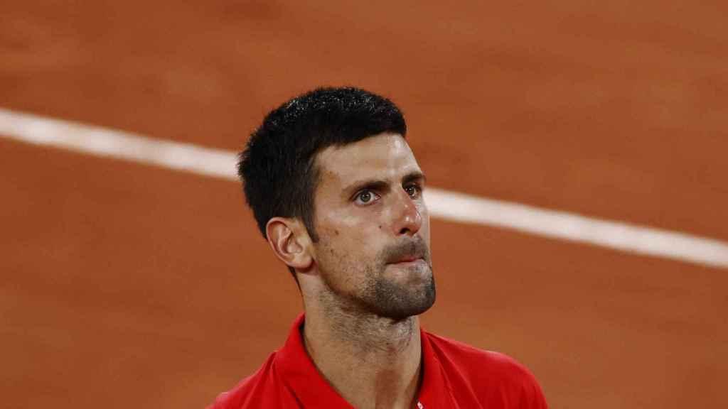 Djokovic, durante su encuentro ante Berrettini.