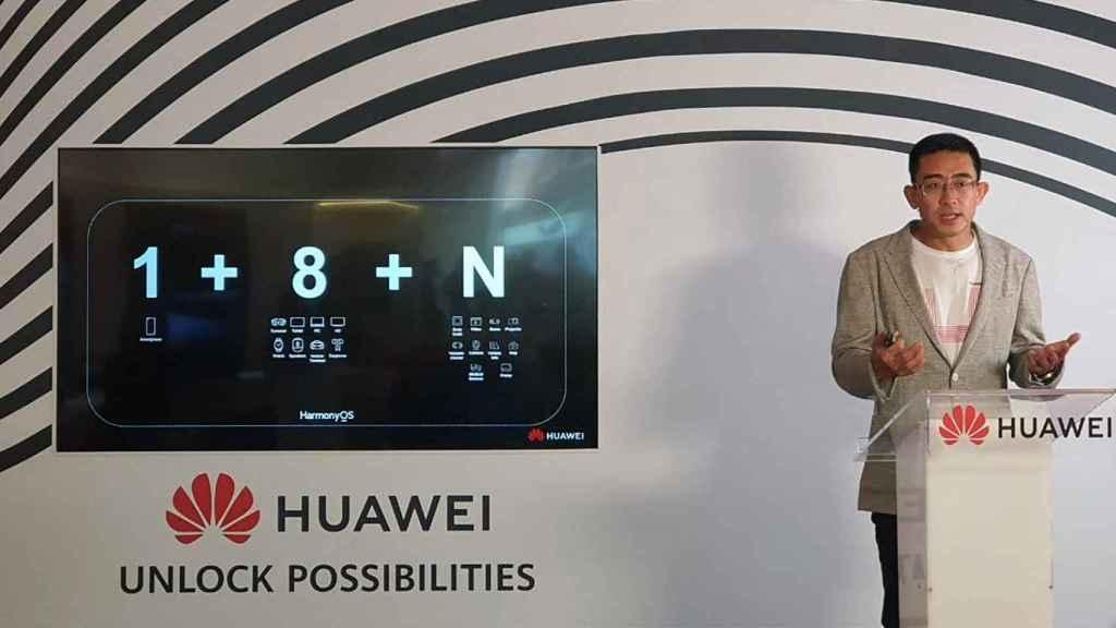 Fred Wang, country manager de Huawei en España, presentando HarmonyOS en Madrid