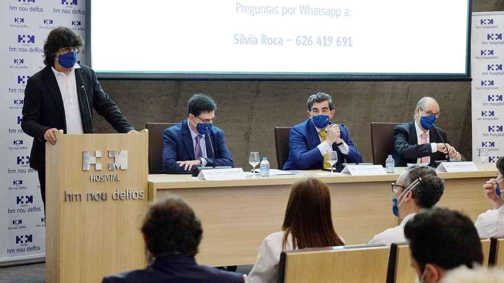 En la mesa: Joan Sala, Juan Abarca y Antoni Garrell.