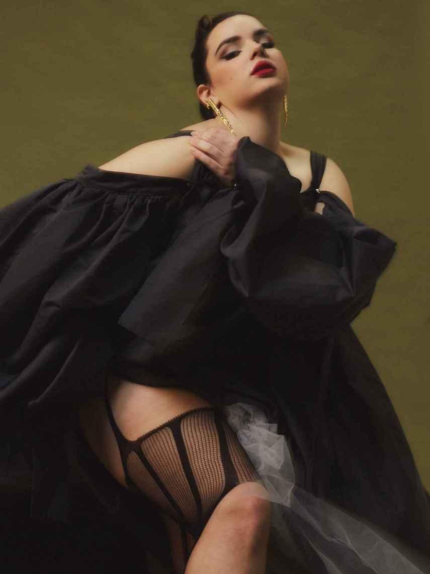 La modelo en la revista Sicky Magazine.