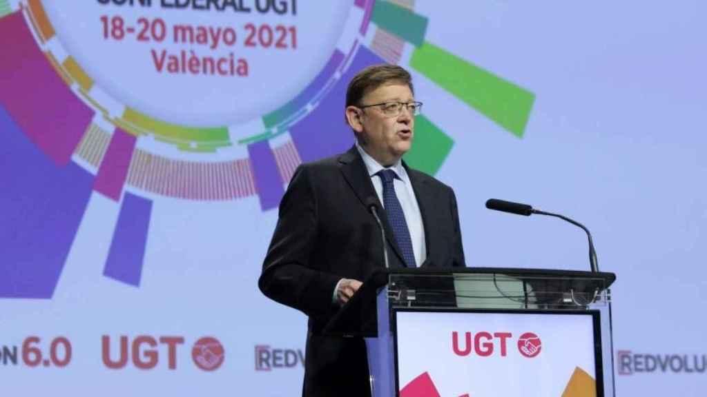 Ximo Puig, durante el Congreso Confederal de UGT que subvencionó con 80.000 euros. EE