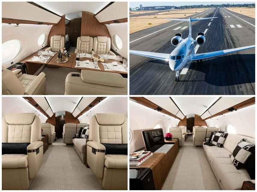 Ejemplo de los rincones del interior de los aviones Gulfstream G650.