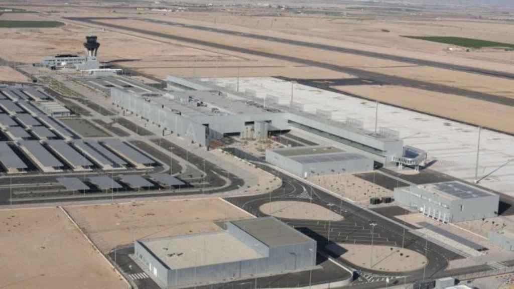 Vista aérea del Aeropuerto Internacional de la Región de Murcia que está situado en la pedanía de Covera.