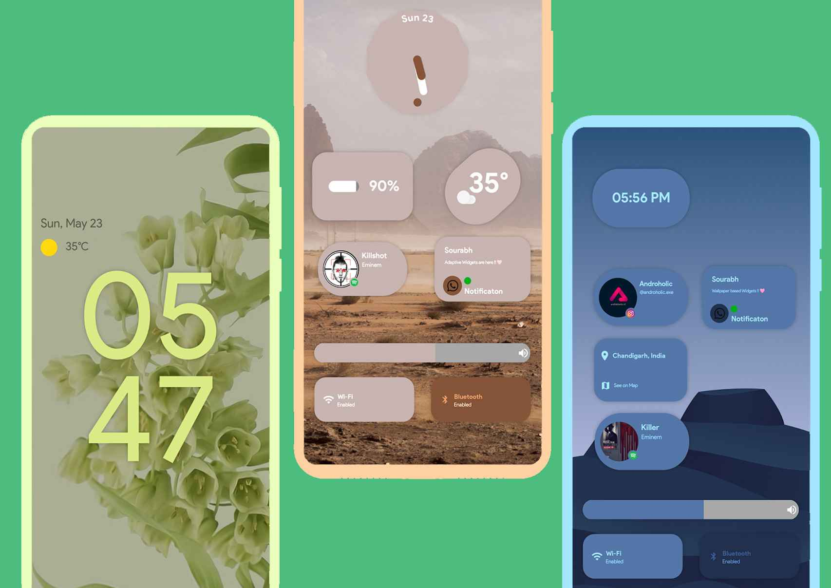 Widgets tipo Android 12