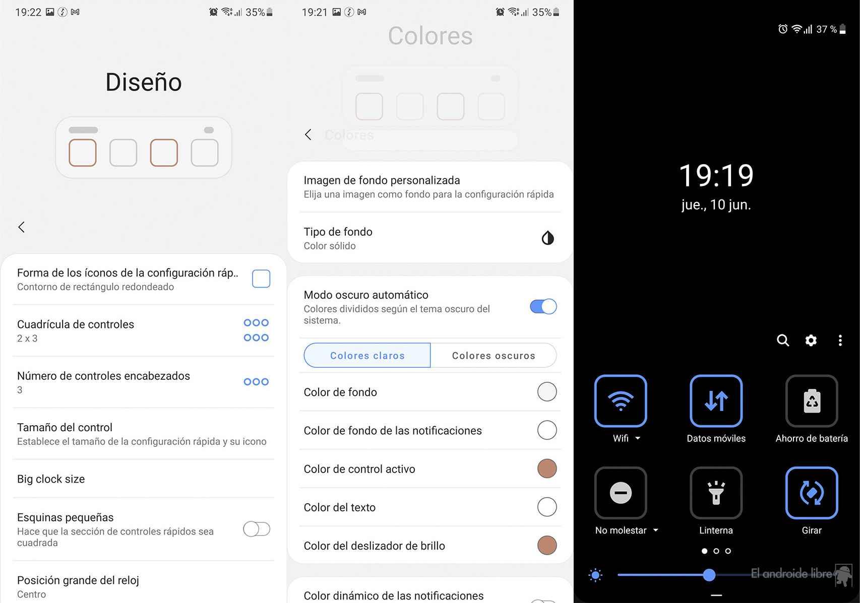 Personalizando los ajustes rápidos a lo Android 12