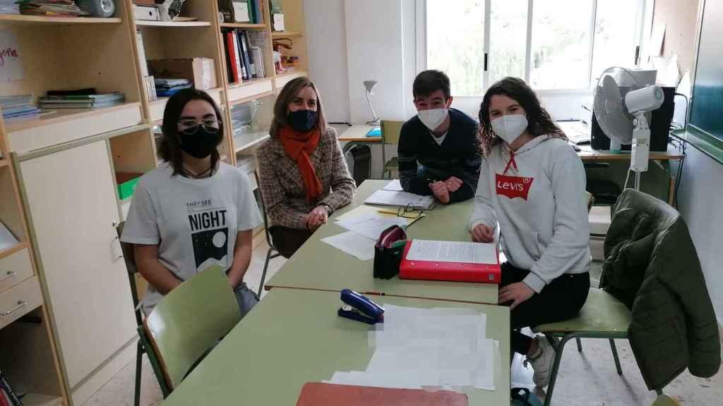 Alumnos del IES Cabo de la Huerta que forman parte del proyecto Heritapp