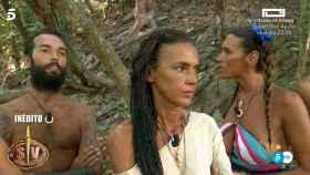 Omar, Olga y Lara Sajen este miércoles en 'Supervivientes'.