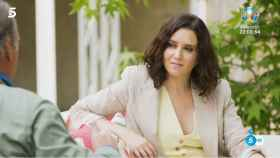 Isabel Díaz Ayuso durante su entrevista con Bertín Osborne en 'Mi casa es la tuya'.