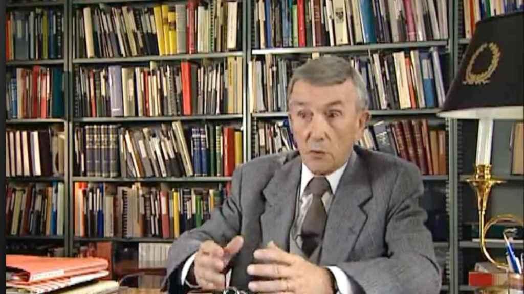 Javier Rubio, durante una entrevista en su casa de Salamanca.