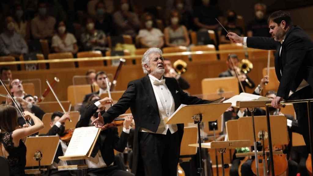 Plácido Domingo, este miércoles en el Auditorio Nacional.