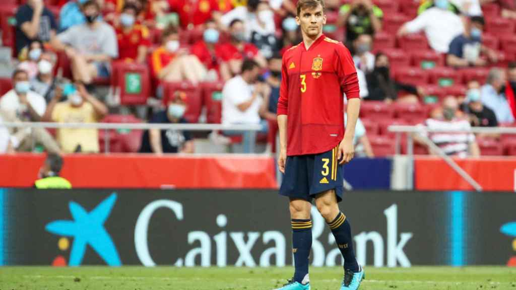 Diego Llorente, en el partido con la Selección frente a Portugal