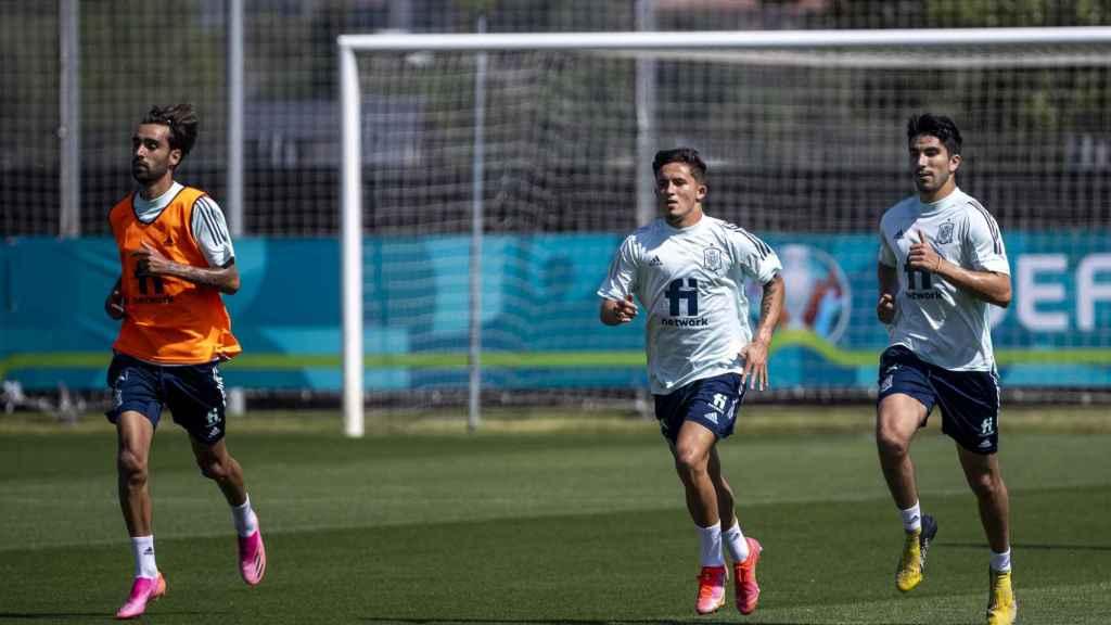 Tres jugadores de la Selección se entrenan este jueves en la Ciudad del Fútbol de Las Rozas