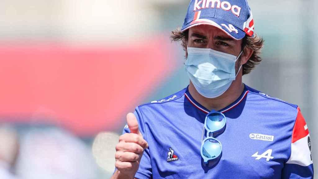 Fernando Alonso en el Gran Premio de Azerbaiyán