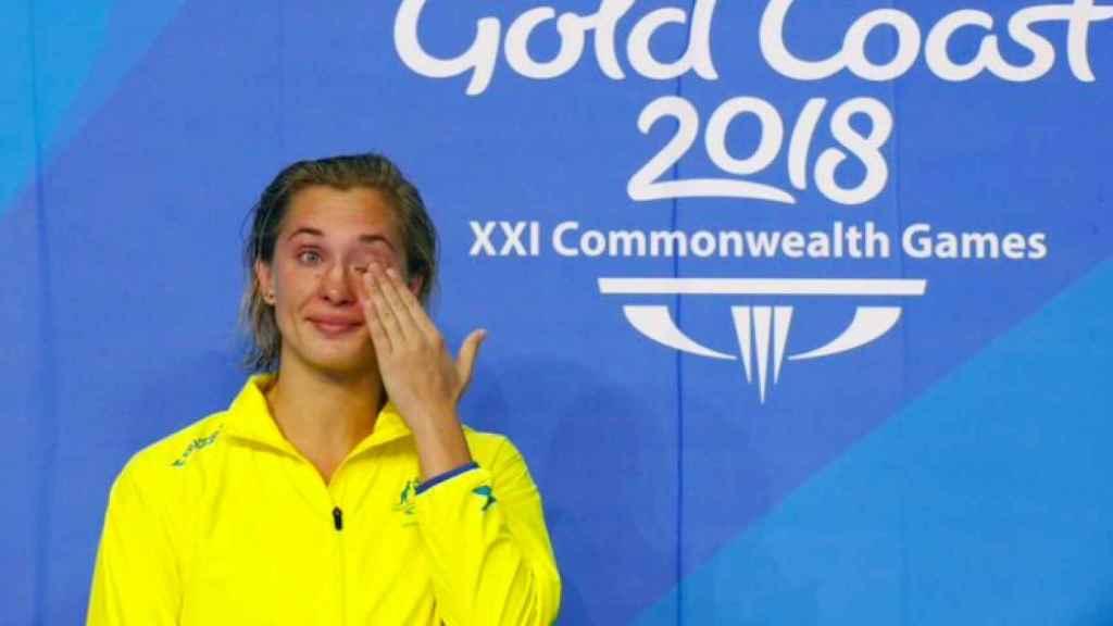 Madeline Groves emocionada tras un triunfo