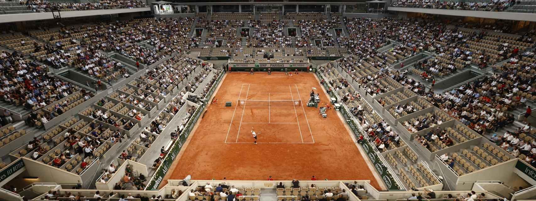 Pista central de Roland Garros