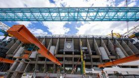 El estadio Santiago Bernabéu en obras