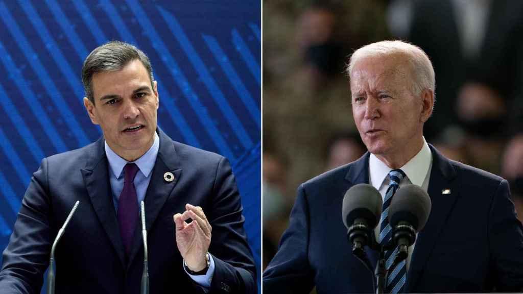 Pedro Sánchez y Joe Biden, presidentes de España y Estados Unidos, respectivamente.