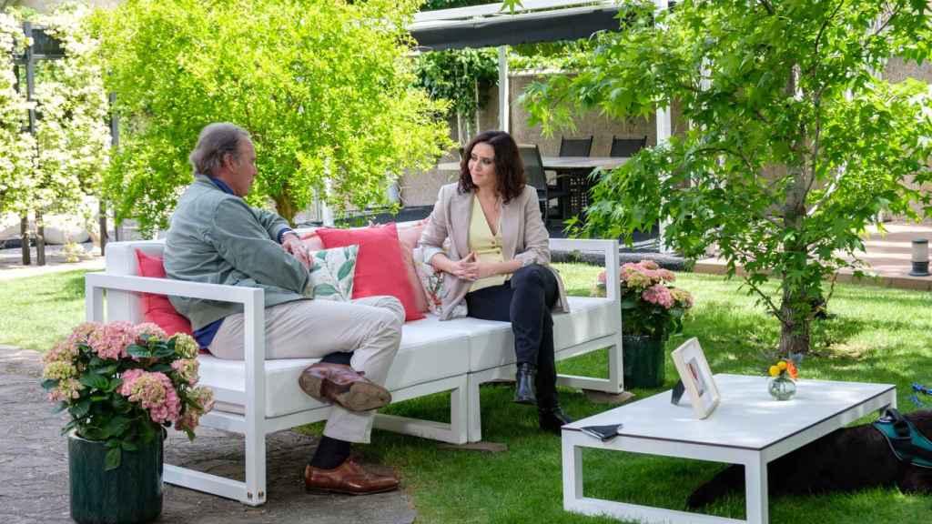 Isabel Díaz Ayuso, durante su entrevista con Bertín Osborne.