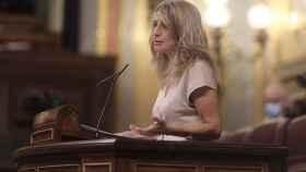 Yolanda Díaz, ministra de Trabajo y Economía Social, en el Congreso.